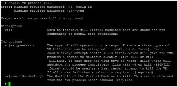 A Look at ESXCLI – The VM Namespace