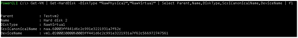 Working With Raw Device Mappings