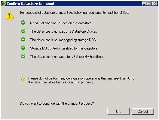 VMFS Storage Maintenance Tasks