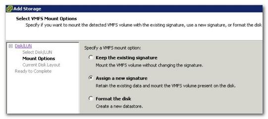 VMFS Resignaturing