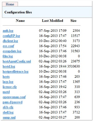 Working with vCenter and ESXi Log Files