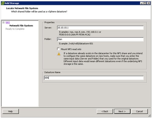 How to create a NFS share on a Windows 2008 R2 server for
