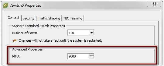 Tuning ESXi Host Networking Configuration