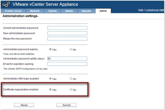 Vcenter Server Certificate In Vsphere    Build