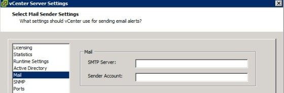 vcenter-email-settings