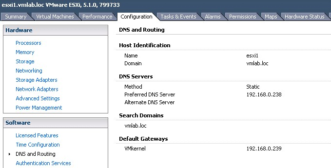 Troubleshoot ESXi Host DNS and Routing Related Issues