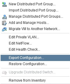 export-dvswitch-configuration