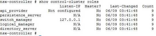 show-control-cluster-roles