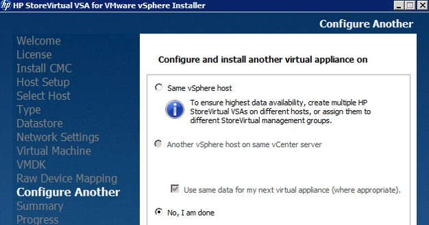 Deploying and Configuring HP StoreVirtual VSA – Part One