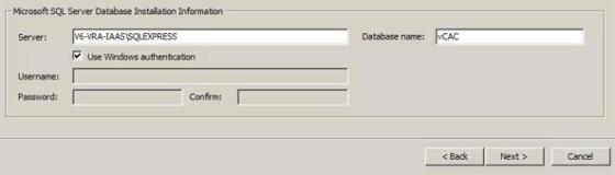iaas-database-configuration