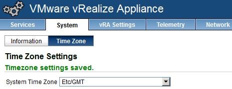 vra-appliance-timezone-settings