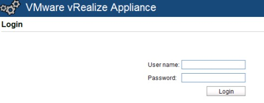 vra-appliance-web-console