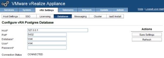 vra-database-configuration